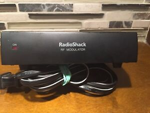 Radio Shack RF Modulator Video Convert VCR DVD to Older TV cable