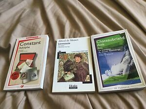 French novels chateaubriand lorenzaccio constant adolphe
