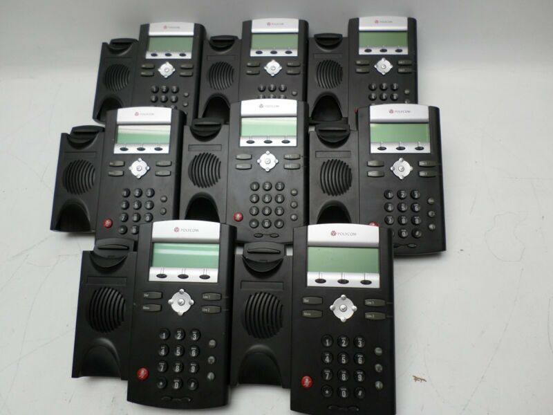 Lot of 8 POLYCOM SoundPoint IP330 Phones Bases ONLY