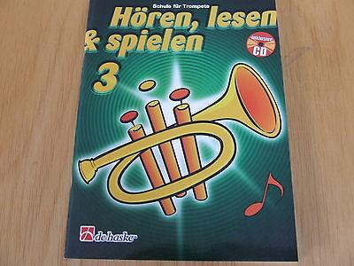 Hören, lesen & spielen Band  3  für Trompete mit CD