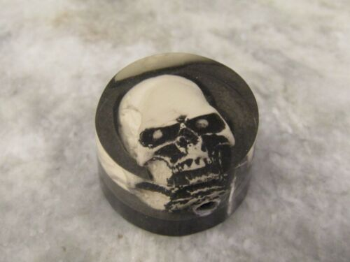 SKULL SPEED KNOB FOR GUITAR or BASS with ALAN SET SCREW ADJUSTMENT - PLASTIC