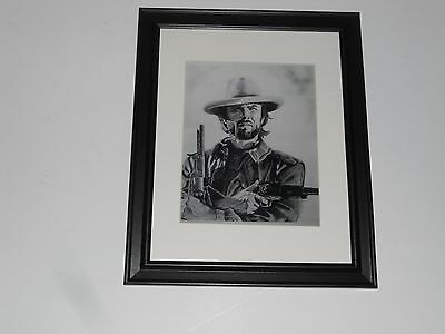 - Framed Josey Wales Clint Eastwood Poster Pencil Art Print Glass Frame 14