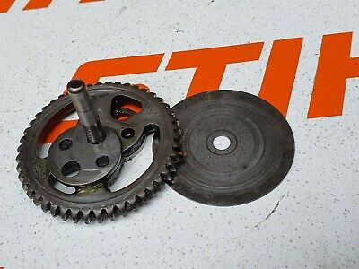 STIHL HS45 MAIN CAM GEAR IN GEARBOX WITH SHIM (USED)