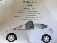 The Hay Ride and Private Care!