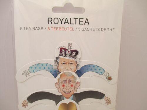 RoyalTea novelty tea bags royal family