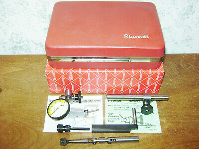 Moore Tools Gooseneck Dog Leg Holder W Starrett .0001 Inch Dial Indicator Set