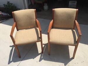 Two original mid-century retro Parker chairs