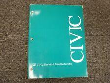 2001-2005 Honda Civic Electrical Wiring Diagrams Manual DX ...