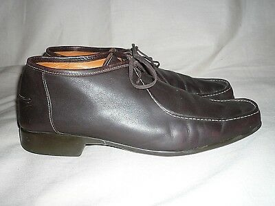 JM Weston Chocolate Brown Leather Casual Shoes,UK - Weston Chocolate