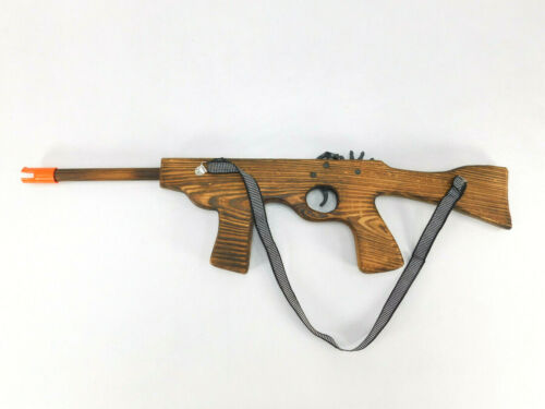 """New Wood Rubber Band Gun Rifle M16 Large 21"""" Elastic Shooter Boys Toy Military"""