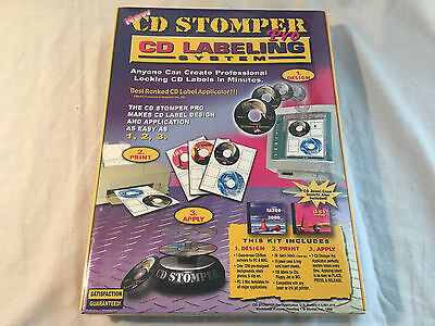 New Cd Stomper Pro Cd Labeling System -easy To Use