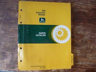 John Deere 990 Subsoiler Bedder Parts Catalog Manual Book Original Pc-1405