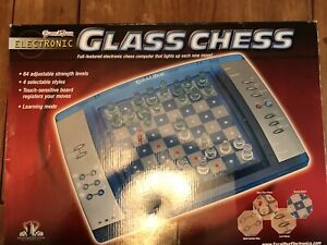Glass chess electric game