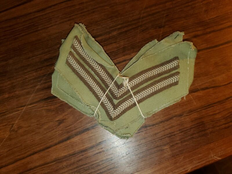 TWO ORIGINAL PAIRS WW 2 BRITISH TROPICAL CORPORAL  CPL STRIPES.