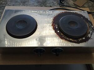 2 burner electric cooktop roband commercial stainless steel