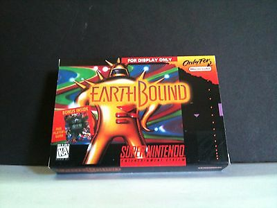"""Earthbound SNES Official Nintendo """"For Display Only"""" Demo Box - NO GAME Display for sale  Shipping to Canada"""