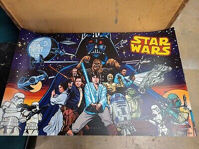 Stern Star Wars Pro Comic edition Pinball Machine Translite !!!