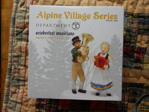 DEPT 56 ALPINE VILLAGE Accessory OCTOBERFEST MUSICIANS NIB