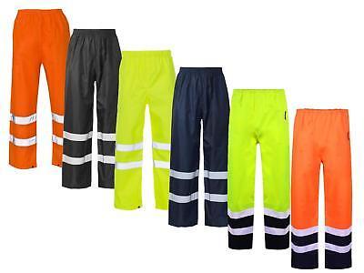 Signalfarbe Sichtbarkeit Arbeitskleidung Sicherheits Überhose wasserdicht Hose