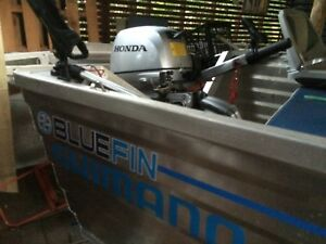Bluefin 3.8 millennium hull with 20hp Honda 4 stroke