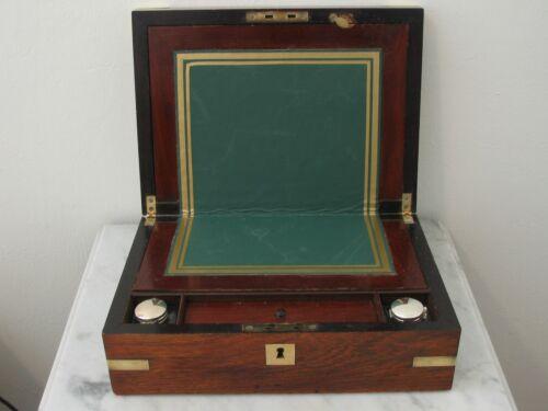 Antique 1886 Burl Mahogany Lap desk