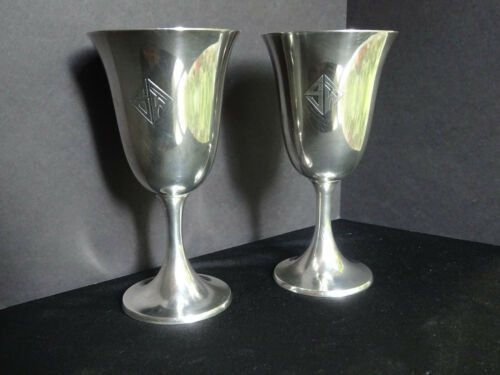Gorham STERLING SILVER Two (2) Antique Water Goblets Number 1693
