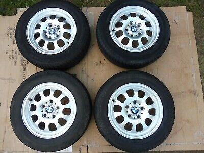 "BMW 3 series E46 15"" alloy wheels with tyres"