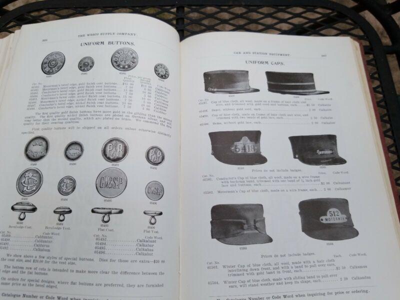 Vintage 1904 Railroad Trolley Mining Supply Catalog Electric gold Train rr track