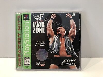 WWF War Zone (PS1) Complete - Clean,Tested & Fast Shipping