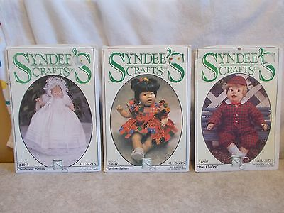 3 - Syndee's Doll Patterns Uncut 24007 Eton Charle,24012 Playtime,24011 Christen