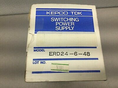 New In Box Kepco Tdk Switching Power Supply Erd24-6-48