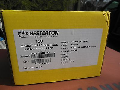 Chesterton 150 Single Cartridge Seal Shaft 1.125 316ss