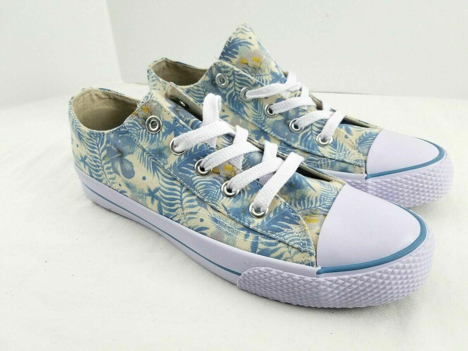 Airwalk Sneaker Floral Canvas Shoe Non Marking Low Top Women