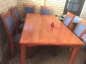 Table and 6 chairs Golden Bay Rockingham Area Preview