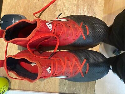 adidas Ace 17.1 FG Mens Football Boots Red and Black UK Size 7 and Boot bag inc.