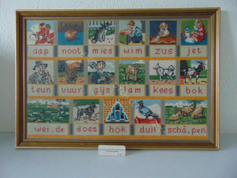 EMBROIDERED OLD DUTCH READING BOARD AAP NOOT MIES
