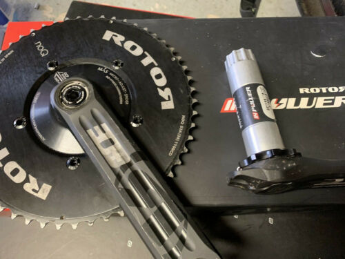 Rotor InPower 3D+ Power Meter Crankset 172.5mm with NoQ chainrings BCD 110