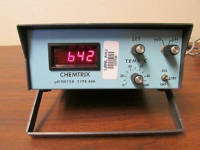 Chemtrix Ph Meter Type 60a Tested Working No Probe