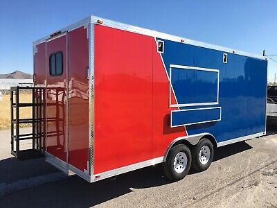 New Concession Food Event Restaurant Bbq Trailer 20 X 8.5