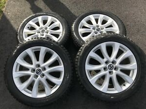 225 55 R19 Bridgestone Blizzak Tires on OEM Mazda CX-5 Rims