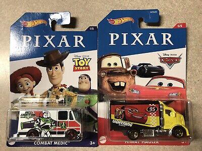 HOT WHEELS DISNEY PIXAR COMBAT MEDIC + HIWAY HAULER Toy Story Cars FREE SHIPPING