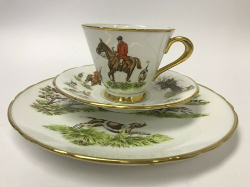 Tuscan Tally Ho Bone China Trio Tea Cup Saucer Bread Butter Plate