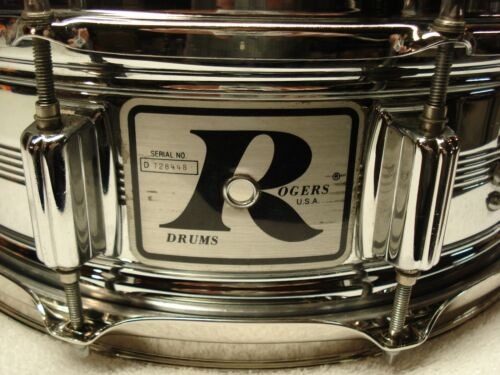 70s ROGERS Big R Snare Drum. BRASS DYNASONIC COB. 10-Lug.