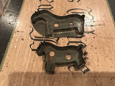 2 Nice Antique 19th Century Flat Back Horse Cookie Cutter No Reserve