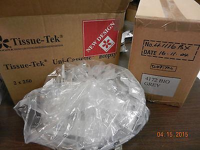 Biopsy Cassette Sakura Tissue-tek 4172 Grey Plastic 500 Pcs New