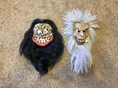 Vintage Scary Halloween Masks Creepy Hillbilly Latex Rubber