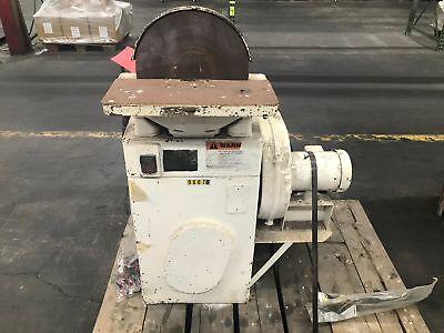 Used 12 Inch Disk Sander 1hp 1740rpm Rockwell 86-044 W Baldor Motor Cm3537