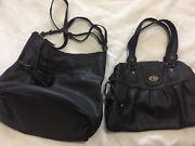 2 black ladies handbags large hobo and shoulder Hamilton Newcastle Area Preview
