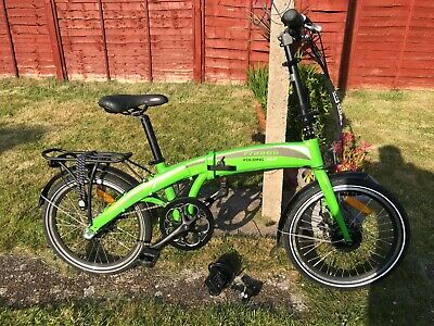 FREEGO LIGHT FOLDING ELECTRIC BIKE E-BIKE GREEN 20'' ONLY DONE 1 MILE! RRP £1250