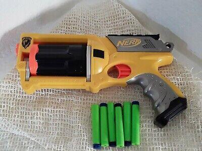 Nerf Maverick REV-6 Yellow Nerf N-Strike Revolver Dart Gun
